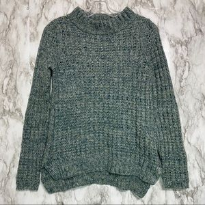 Field Flower Anthro Shades of Green sweater